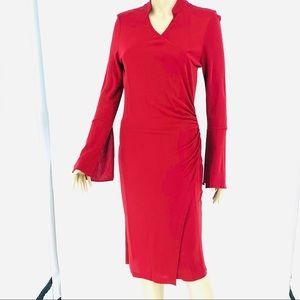 Diane vonFurstenberg burgundy wrap dress sz.8